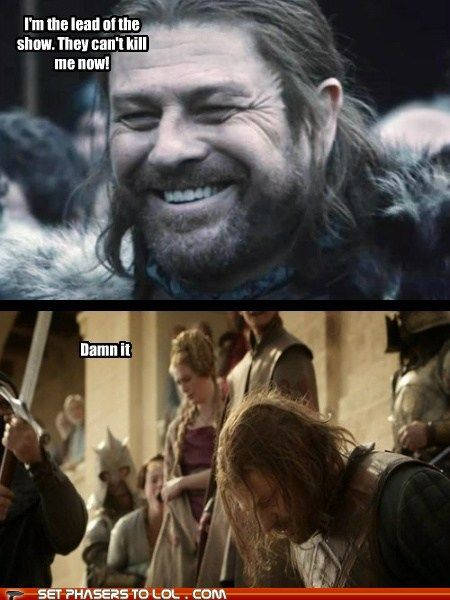 This man is a living breathing spoiler alert.... Still love Sean Bean. Game of Thrones