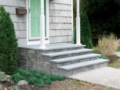 How To Clad Concrete Steps In Stone