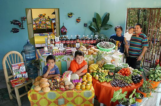 What the world eats... a slideshow of different families around the world with a look at their weekly food habits