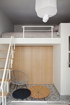 Mezzanine and d coration on pinterest - Lit mezzanine pour studio ...