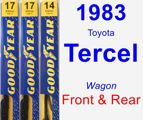 Front & Rear Wiper Blade Pack for 1983 Toyota Tercel - Premium
