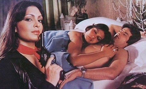 """it's from """"Bond 303"""" (1985). Sheetal is also seen with Jeetendra in the photo"""
