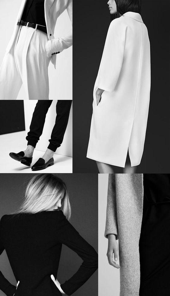 Black and white fashion, classic fashion