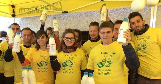 """Bari - Protesta allevatori per il latte """"100% Muuunto in Puglia"""", Emiliano firma per l'etichettatura"""
