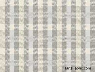 Extra-Soft Herringbone Plaid Cotton Fabric Grey  $9.99