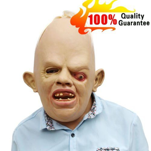 horror prop Creepy Goonies Sloth Latex Halloween Costumes Mask Party Cosplay *** You can get more details by clicking on the image.