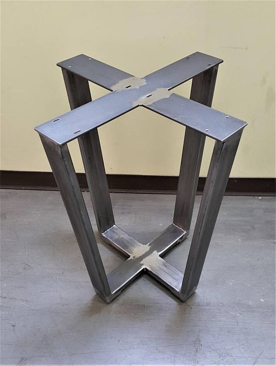 Beautiful Industrial Trapezoid Table Base For Square Or Round Table, Model # TTBRS28