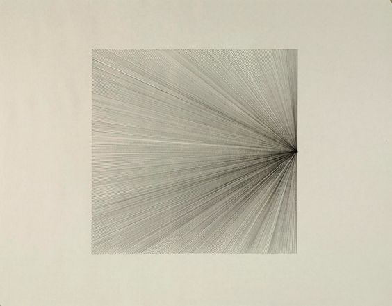 Matt Niebuhr : Nine Points of Radiating Lines (Drawing Series)