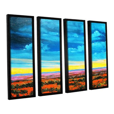 """Loon Peak Riders On The Storm 4 Piece Framed Painting Print on Canvas Set Size: 24"""" H x 32"""" W x 2"""" D"""