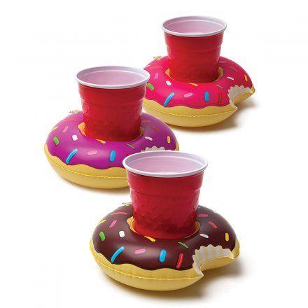 Aufblasbare Getränkehalter Donuts 3er-Set