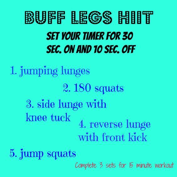 Heart pumping leg workout!