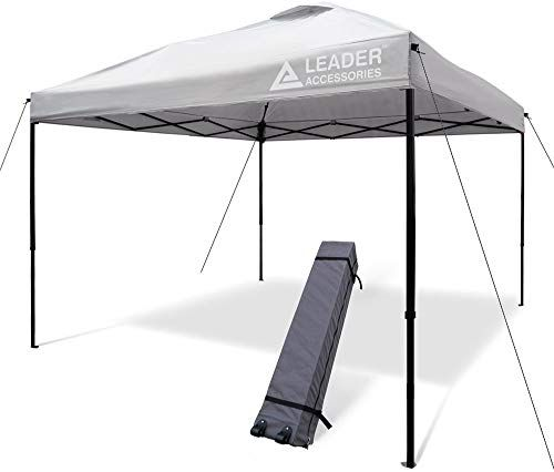 New Leader Accessories 10 X 10 Pop Up Canopy Tent Instant Shelter Portable Folding Canopies Straight Leg Wheeled Carry Bag Silver Online Instant Canopy Canopy Tent Canopy