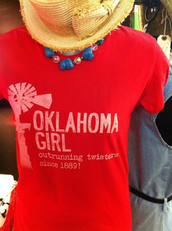 OKLAHOMA GIRL ❤ -comes in S,M,L,XL-  Generous fit and minimal shrinkage $ 28. Plus shipping