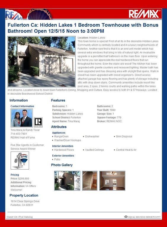Links   Our Website   SOCIAL MEDIA LINKSTina Maraj & Randy Tovar  Photo Gallery                                Description   This town home is sp...