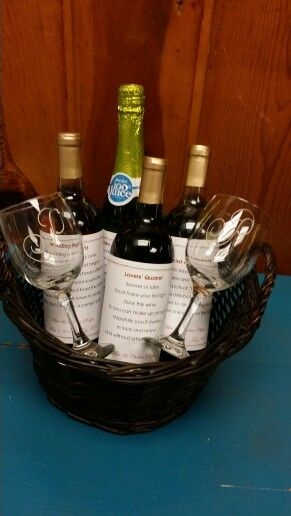 Memorable Wedding Gifts For Bride And Groom : bridal shower bridal shower wine grooms showers brides wine gifts ...