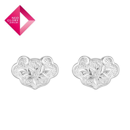 Aliexpress.com : Buy Free Shipping Neoglory Fashion 925 Sterling Silver Stud Earrings for Girls Statement Jewelry Brand Wholesale New Arrive from Reliable earrings suppliers on NEOGLORY JEWELRY