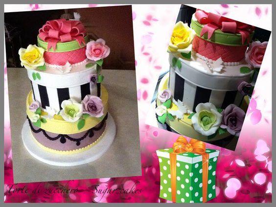 box flower cake