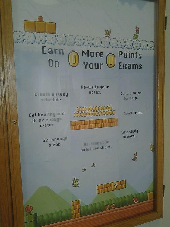 Classic Mario Exam/ Study Board