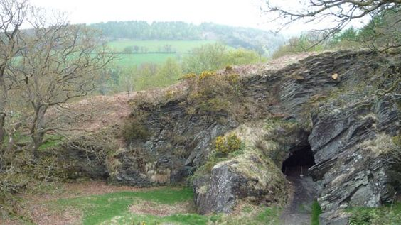 Dolaucothi Gold Mine in the wooded hillsides overlooking the Cothi Valley in Carmarthenshire - the only Roman gold mine in Britain