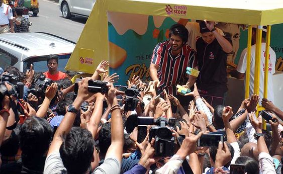 Actor Vijay Deverakonda Birthday Ice Creams Trucks in Chennai