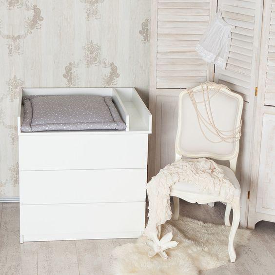 Wickelaufsatz für Kommode, Wickelkommode, Kinderzimmer /  white baby's changing unit made by PuckDaddy via DaWanda.com