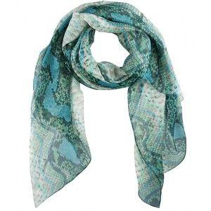 Yves Saint Laurent Python Print Silk Scarf