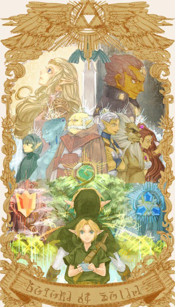 THe Sages of Ocarina of Time Zelda Pinterest Sila, Zelda a