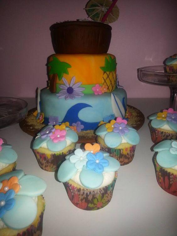 Island Theme Cake by Sweet Temptations www.Sweet-Temptations.co