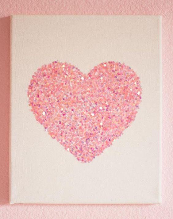 9 DIY Easy Glitter Wall Art Ideas | DIY to Make