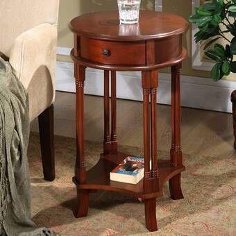 Wilfredo Corner End Table With Storage End Tables With Drawers Round Accent Table End Tables With Storage