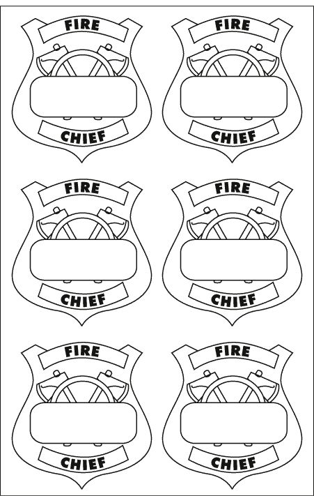 Printable Firefighter Badge | Printable fireman badge templates - National Gates