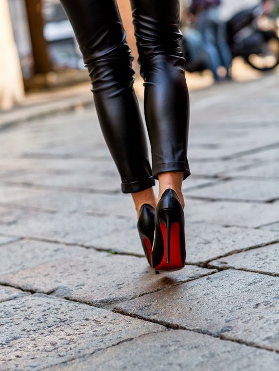 The Fashion Fraction (Michele) in black kid Pigalle 120s | #Louboutin |