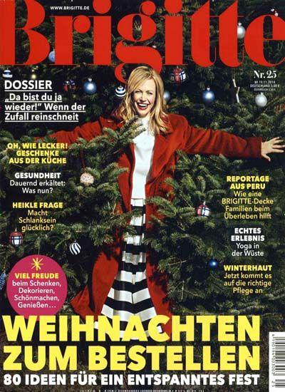 Weihnachten zum Bestellen - 80 Ideen für ein entspanntes Fest. Gefunden in: Brigitte, Nr. 25/2014