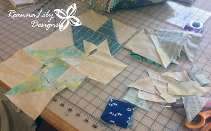 Piecing Rising Star Quilt Block from Sister's Sampler Quilts