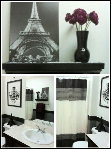 Paris themed bathrooms paris and the black on pinterest