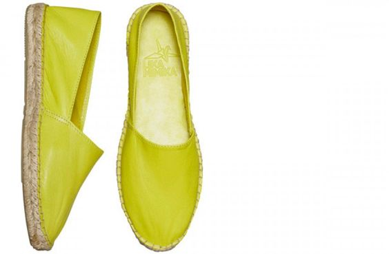 Classic Leather Espadrilles by LIKA MIMIKA | NEON GREEN