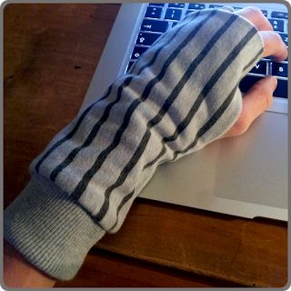 Handwärmer aus Pullover / Hand warmers made of old shirt / Upcycling
