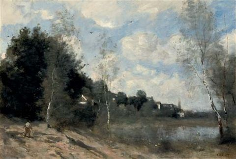 Ville D Avray Ca 1855 1860 By Jean Baptiste Camille Corot