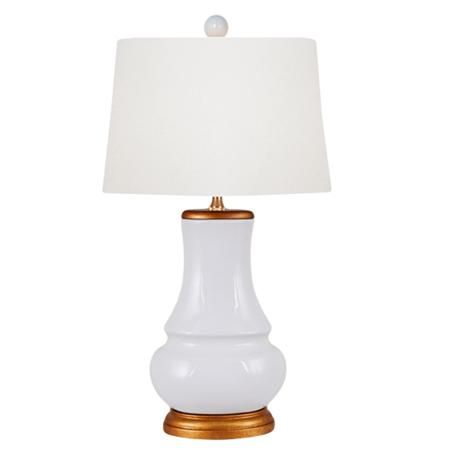 Salween White And Gold Table Lamp