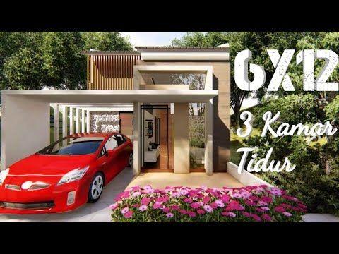 Model Rumah Minimalis Ukuran 7x16 kumpulan desain rumah minimalis 6x12 3 kamar 3d terbaru