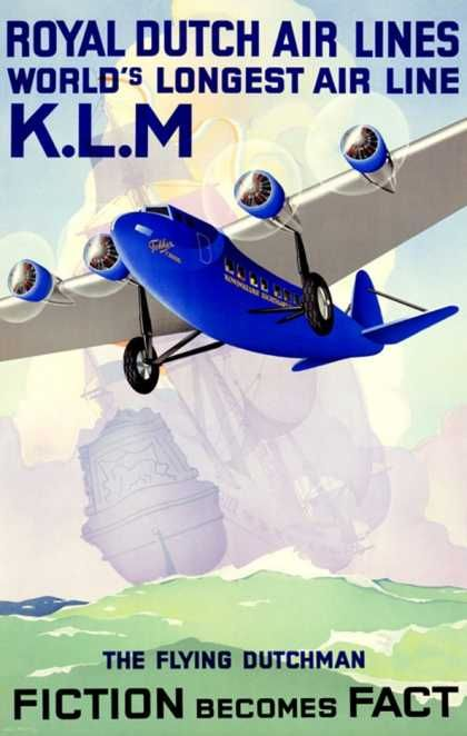 KLM vintage. One of the colors that I used to communicate the blue shade for Jet City.