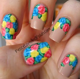 Peace, Love and Polish: And Some MORE Floral Nails!