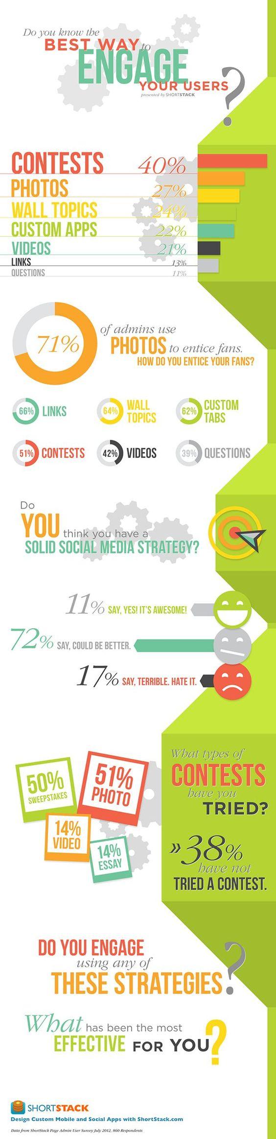 Beste manieren om interactie te hebben met bezoekers aan je facebook, twitter, linkedin, Instagram, PInterest, Youtube enz - #infographic #socialmedia