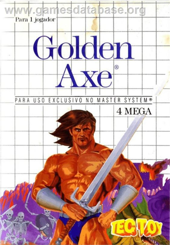 Golden Axe - Sega Master System - Artwork - Box