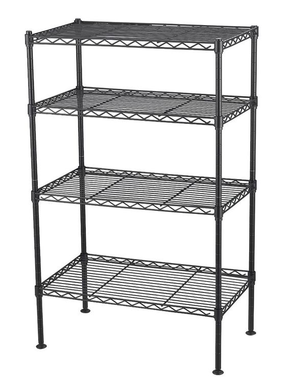 4 Tier Wire Shelving Unit Storage Rack Metal Adjustable