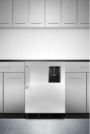 FF7BBISSTBBWD in by Summit in White Plains, NY - Built-in undercounter no-lift bottled water cooler for through-the-door water dispensing, with added space for refrigerated storage