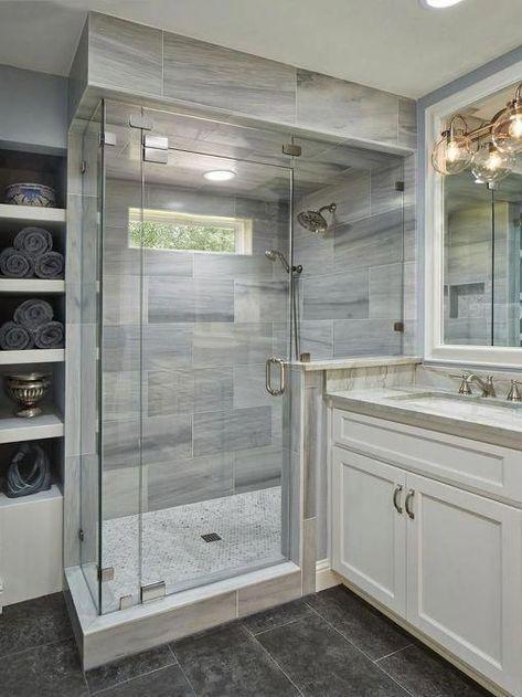 Raised Ranch Remodel Split Entry Half Walls 70 Ideas Master Bathroom Remodel Shower Bathroom Remodel Shower Small Master Bathroom