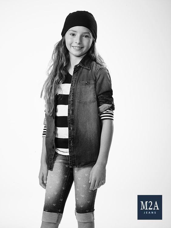 M2A Jeans   Fall Winter 2015   Kids Collection   Outono Inverno 2015   Coleção Infantil   calça jeans infantil feminina; camisa jeans; look infantil; denim kids.