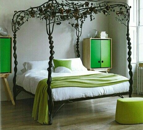 enchanted forest bedroom from living magazine