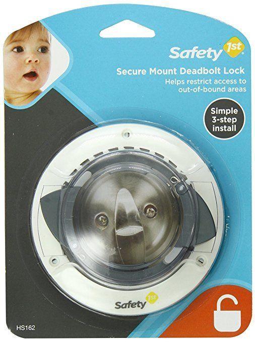 Safety 1st Secure Mount Deadbolt Lock Keeps Child From Opening A Deadbolt Lock Deadbolt Lock Door Locks Safety
